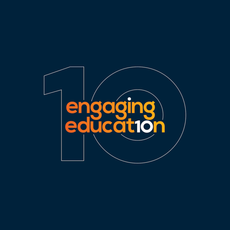 Engaging Education logo on a dark blue banner.