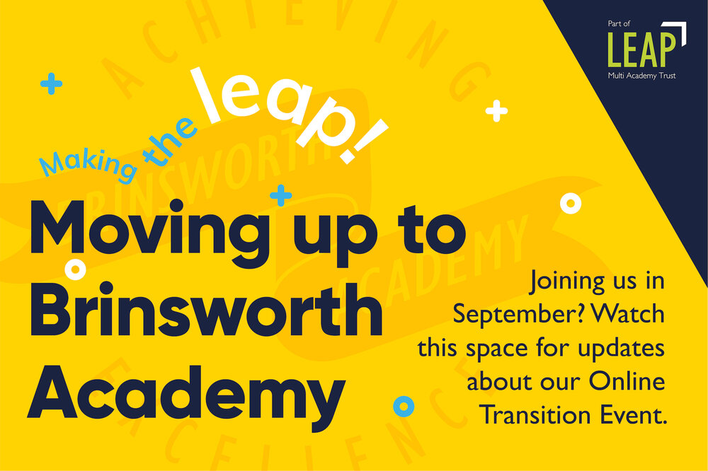 Graphic for Brinsworth Academy's online transition event.